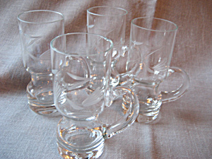 Four Princess House Liquor Glasses