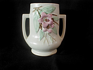 Mccoy 2 Handle Flowered Vase