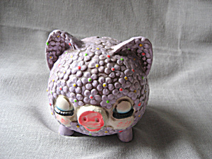 Purple Daisy Piggy Bank (Image1)