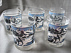 Winter Scene Glasses From Libbey
