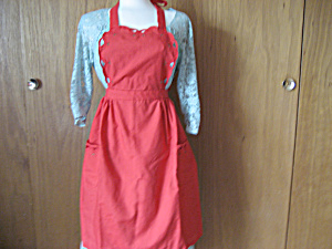 Red Christmas Apron (Image1)