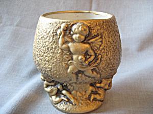 Gold Cherub Vase (Image1)