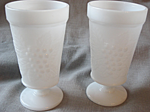 Grape Vine Milk GlassGoblets (Image1)