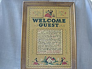 Wooden Welcome Picture