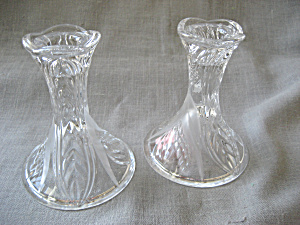Cut Glass Candle Holders