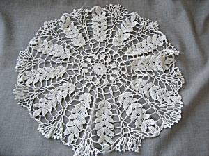Hand Made Leaf Design Doily