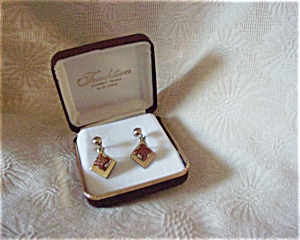 Imitation Gold Stone Earrings (Image1)
