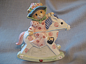 Teddy Bear on a Rocking Horse Bank (Image1)