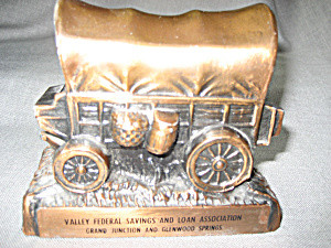 Covered Wagon Metal Bank