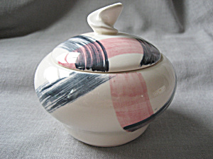 Black and Pink Sugar Bowl (Image1)
