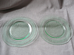 Green Depression Glass Plates (Image1)