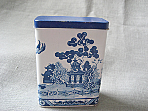 Blue Willow Tin