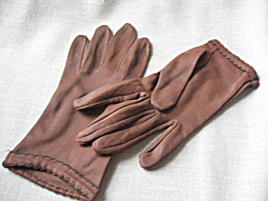 Brown Polyester Gloves