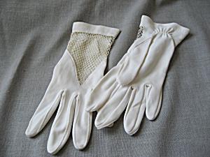 Vintage White Net Gloves (Image1)