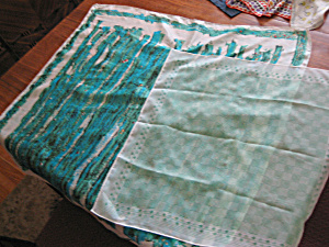 Two Green Silk Scarves