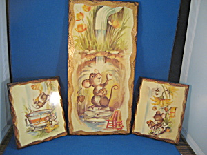 Mouse Wooden Plaques`