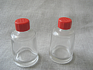 Red Cap Salt And Pepper Shakers
