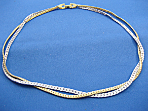 Avon Gold And Silver Necklace