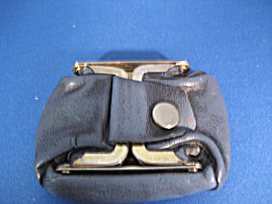 Blue Leather Coin Purse (Image1)