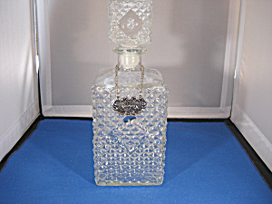 Pressed Glass Decanter with Metal Label (Image1)