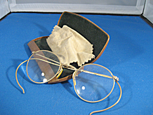 12K GF Frame Eye Glasses with Leather Case (Image1)