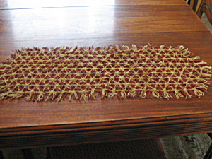 Orange And Brown Dresser Scarf