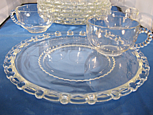 Imperial Glass Candlewick Snack Set (Image1)