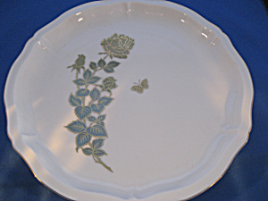 Rose Design Plate From Fred Roberts