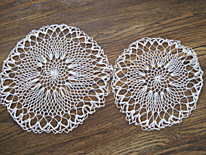 Two White Doilies
