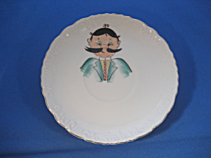 Hand Painted White Plate