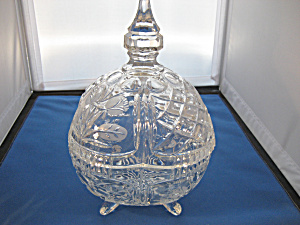 Large Lead Crystal Candy Dish (Image1)