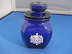 Colbalt Blue Glass Container