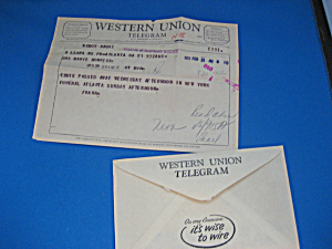 1957 Western Union Telegram (Image1)