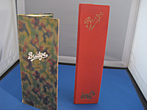 Two Hard Cover Talley Pads Made In Germany