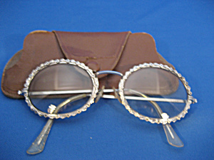 Silver Framed Shuron Eye Glasses with Case (Image1)