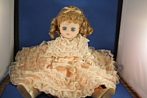 Porcelain Doll With Lace Dress