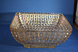 Square Carnival Glass Bowl (Image1)