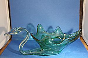 Murano Handblown Swan Dish (Image1)