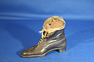 Victorian Man's Shoe Pin Cushion (Image1)