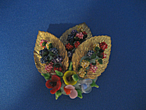 Old Flower and Leaf Brooch (Image1)