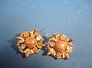 Goldtone Flower Earrings (Image1)