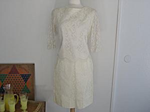 White Lace Two Piece Suit (Image1)