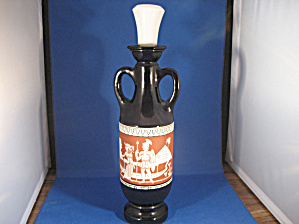 Egyptian Scene Black Decanter