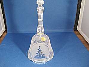 Lead Crystal Bell with Etched Christmas Tree (Image1)