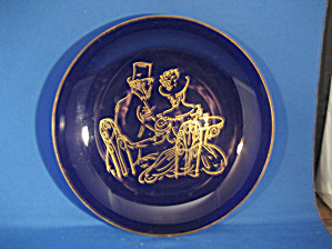 Colbalt Blue Victorian Couple Bowl (Image1)