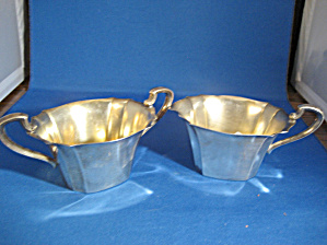 Willam Rogers Silver Cream and Sugar Set (Image1)