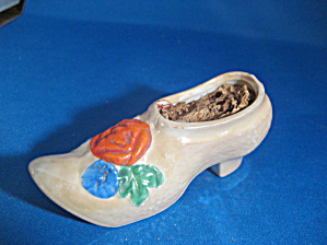 Porcelain Wooden Shoe Pin Cushion (Image1)