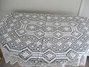 Hand Made Lace Table Covering (Image1)