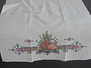 Hand Embroidered Dresser Scarf