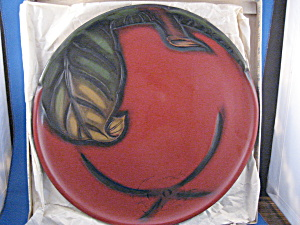 Old Oriental Lacquer Plate